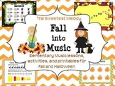Fall into Music - elementary music lessons and activities for Fall/Halloween
