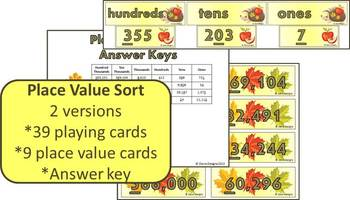 Fall into Place Value - Differentiated Centers