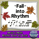 Music Worksheets: Music Math {Fall into Rhythm Leaves}