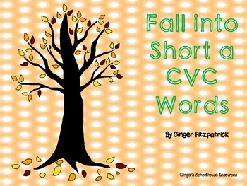 Fall into Short a CVC Words Board Game