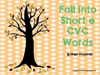 Fall into Short e CVC Words Board Game