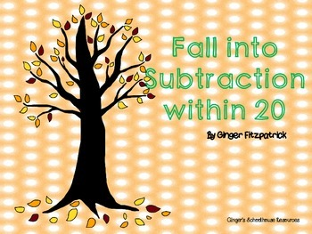 Fall into Subtraction within Twenty Game Board