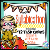 Syllabication Task Card Bundle: VC/CV, V/CV; VC/V; C+le