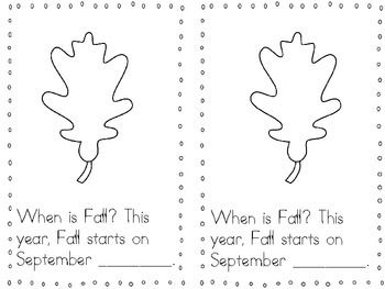"""""""Fall is Here!"""" Reader {For Advanced K's & Gr. 1}"""