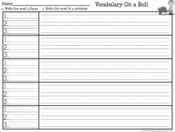 Fall is Here! Vocabulary On a Roll