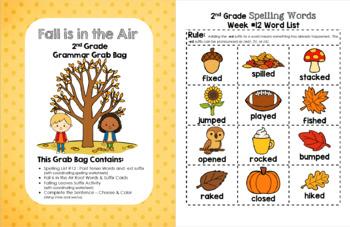Fall is in the Air 2nd Grade Grammar Grab Bag #12