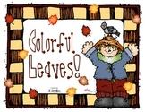 Fall leaf emergent reader