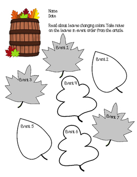 Fall leaves notes and summarizing