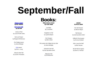 Fall lesson plans