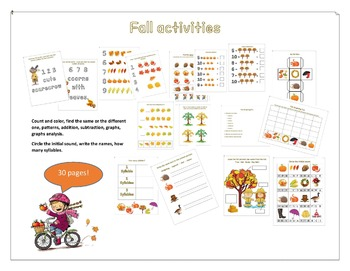 Fall maths and literacy activities
