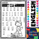 Fall no-prep Free Math and ELA Printables for Pre-K and Kinder