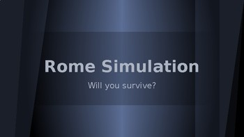 Fall of Ancient Rome Simulation Activity Game