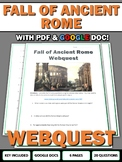Fall of Ancient Rome - Webquest with Key (Google Doc Included)