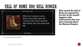 Fall of Roman Empire DBQ Bell Ringers