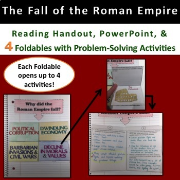 Fall of Roman Empire Powerpoint, Guided Notes, and Problem