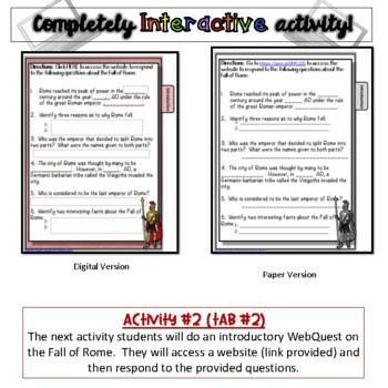 Fall of Rome Activity