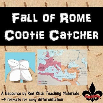 Fall of  Rome Cootie Catcher