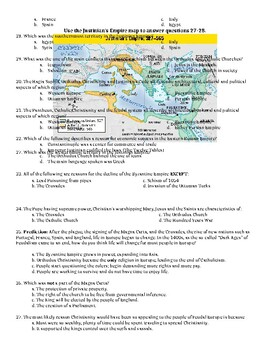 Fall of Rome, Feudalism, Rise of Byzantine Unit Test - World History
