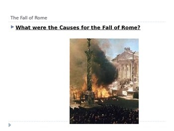 Fall of Rome Power Point