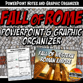 Fall of Rome PowerPoint and Graphic Organizer Bundle