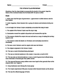 Fall of Rome Puzzle Worksheet