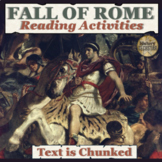 Fall of Rome Reading Distance Learning