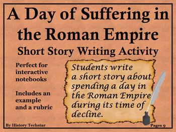 Fall of Rome Short Story Writing Activity