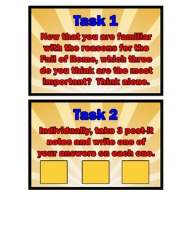 Fall of Rome Task Cards - World History Task Cards