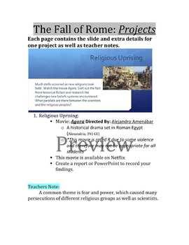 Fall of Rome Teachers Guide