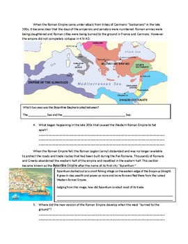 Fall of Rome and the Rise of the Byzantine Empire