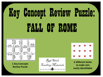 Fall of RomeKey Concepts Puzzle