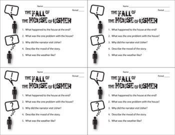 essay questions on the fall of the house of usher The fall of the house of usher - essay the fall of the house of usher by edgar allan poe can be regarded as a psychological thriller got a tricky question.