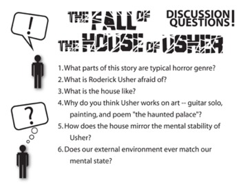the fall of the house of usher essay questions As you have discussed and read the story the fall of the house of usher why did the house of usher fall in a one-paragraph essay, give substantial reasons from the text to answer this question.