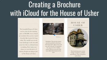 Fall of the House of Usher iCloud Sales Brochure Chromebook Friendly