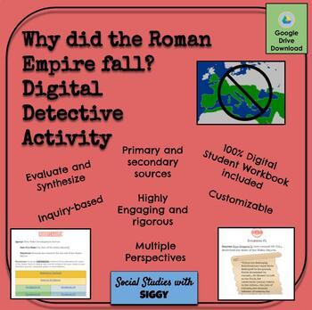 Fall of the Roman Empire Digital Detective Activity