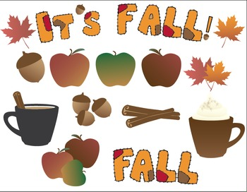 Fall or Autumn Clip Art Bundle