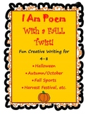 Fall or Halloween I Am Poem 4-8