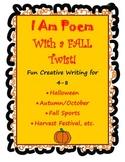 Fall or Halloween I Am Poem 4-8