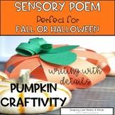 Fall & Halloween Sensory Poem Craftivity