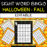Halloween: Sight Word Bingo - Editable