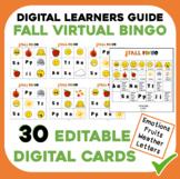 Fall Bingo Cards - Digital and Editable PowerPoint Cards f
