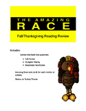 Thanksgiving or Fall Reading Amazing Race Game
