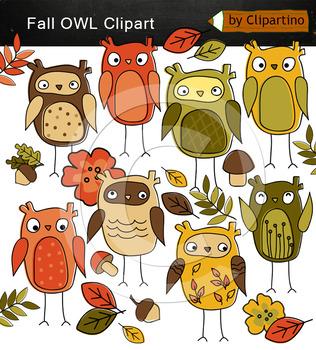 Fall owl clipart
