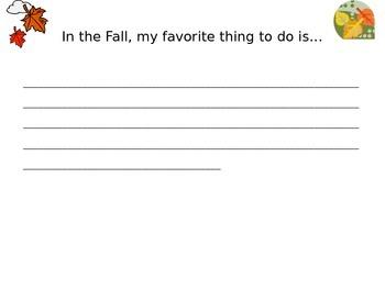 Fall paragraph writing