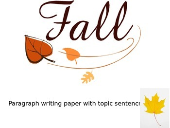 Fall paragraph writing