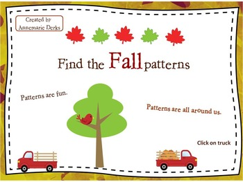 Fall patterns Powerpoint  -- Free