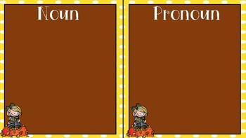 Fall pronoun and noun sort