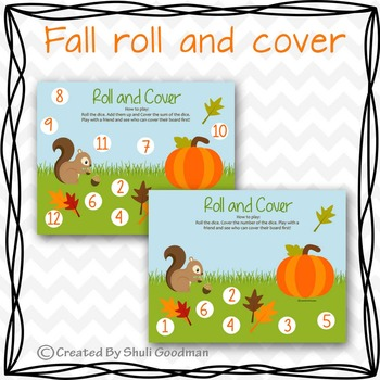 Fall roll and cover math game