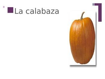 Fall season vocabulary