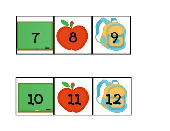Fall set for calendar (Aug, Sept, Oct and November) with pattern date cards